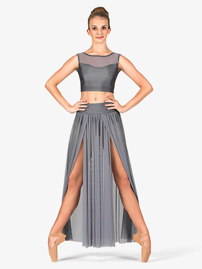 Adult Emballe Long Mesh Skirt with Attached Brief - Style No N7240
