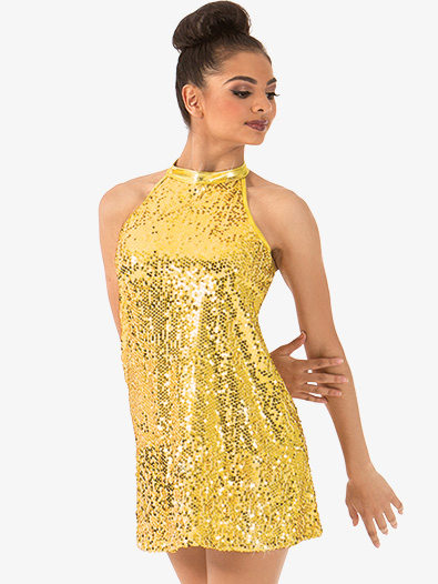 Adult Sequin Mock Neck Dress - Style No N7310