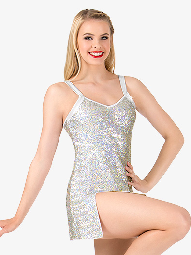 Womens Sequin Tank Performance Dress Set - Style No N7379x