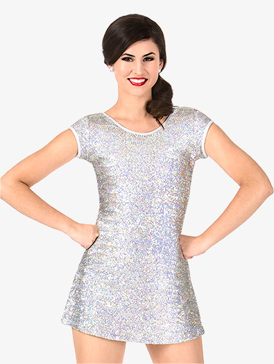 Womens Sequin Cap Sleeve Performance Dress Set - Style No N7384