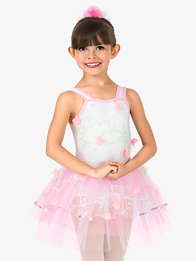 Girls 3-D Floral Tank Performance Tutu Dress - Style No N7410C
