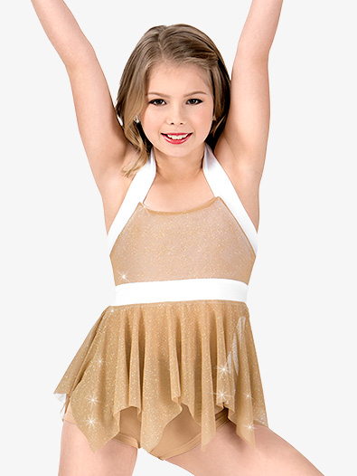 Girls Glitter Mesh 2-Piece Performance Set - Style No N7428C
