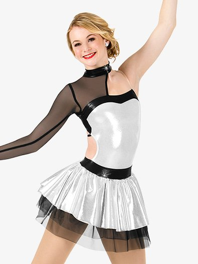 Womens Metallic Asymmetrical Performance Tutu Dress - Style No N7463