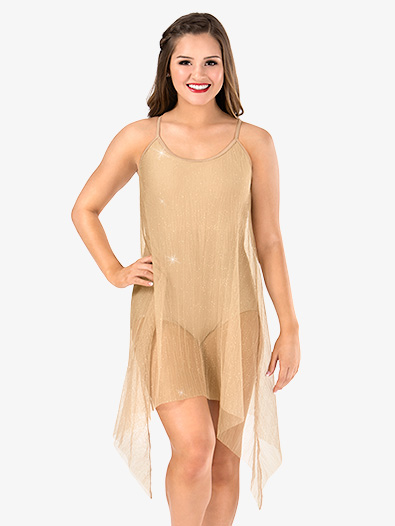 Womens Glitter Mesh Camisole Performance Dress - Style No N7473