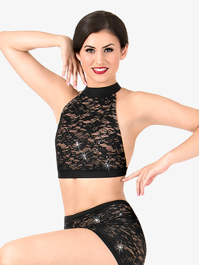 Womens Lace T-Back Dance Bra Top - Style No N7491