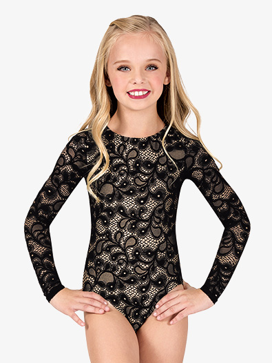 Child Long Sleeve Lace Leotard - Style No N7641Cx