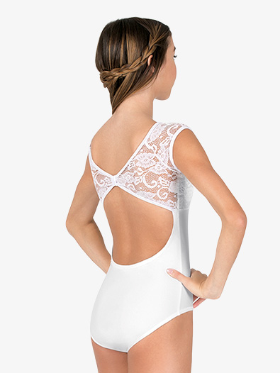 Womens Cap Sleeve Pinched Back Lace Leotard - Style No N7646x