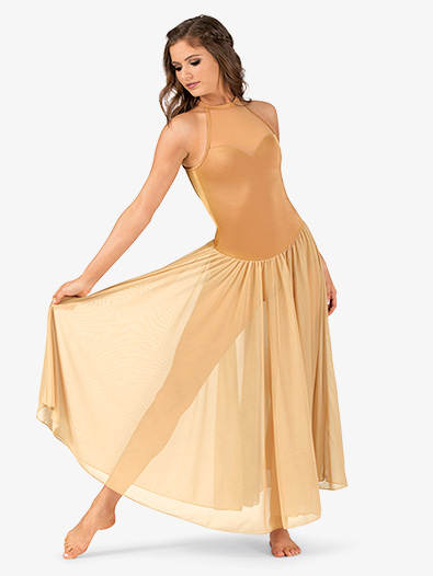 Womens Performance Mock Neck Halter Dress - Style No N7701x