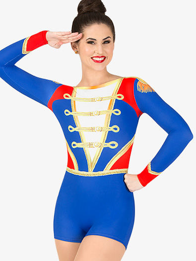 Womens Toy Soldier Sublimated Print Performance Shorty Unitard - Style No N7761