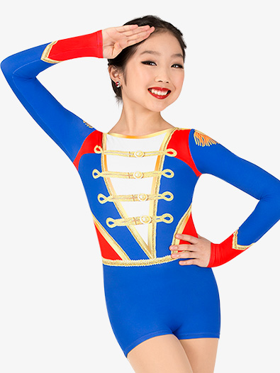 Girls Toy Soldier Sublimated Print Performance Shorty Unitard - Style No N7761C