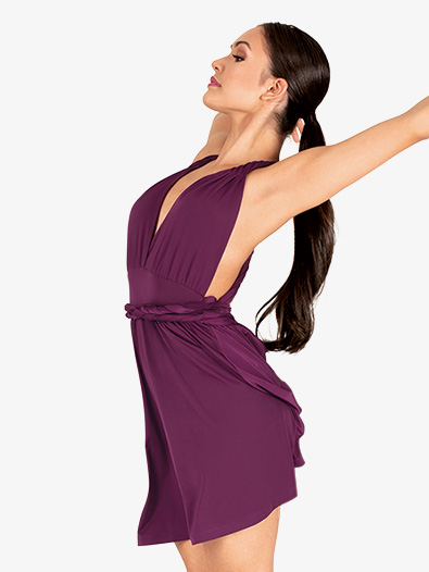 Womens Twisted Strap Tank Lyrical Dress - Style No N7864