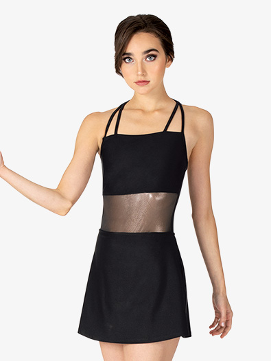 Womens Performance Ultra Sheen Mesh Double Strap Camisole Dress - Style No N7886