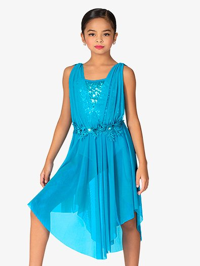 Girls Tulle and Sequin Tank Dress - Style No N7942C