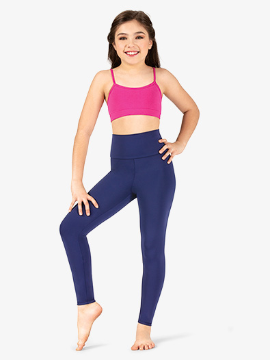 Girls Matte High Waist Dance Leggings - Style No N8642MC