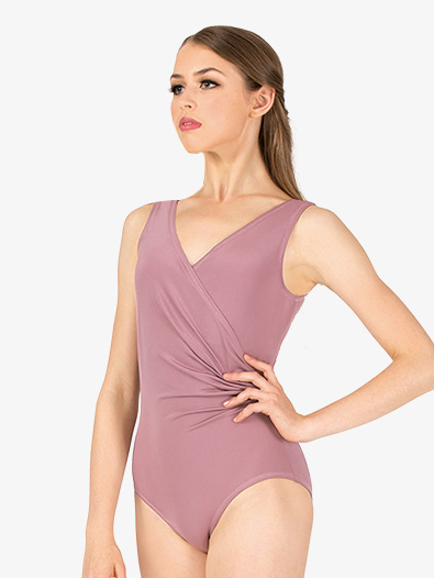 Womens Vintage Wrap Front Tank Leotard - Style No N9008