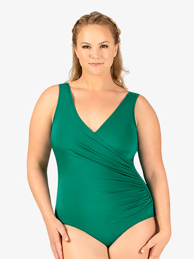 Adult Curvy Fit Plus Mock Wrap Tank Leotard - Style No N9064Px