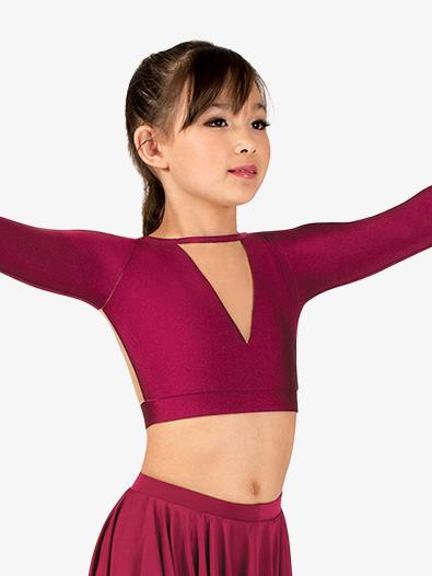 Womens Lyrical Flow Collection Mesh Crop Top - Style No N9111