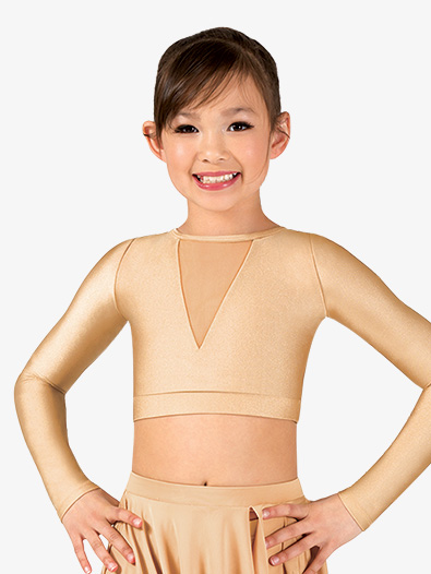 Girls Lyrical Flow Collection Mesh Crop Top - Style No N9111Cx