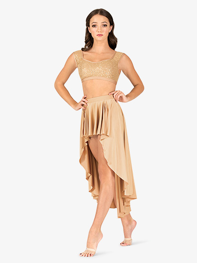 Womens Lyrical Flow Collection High-Low Skirt - Style No N9113