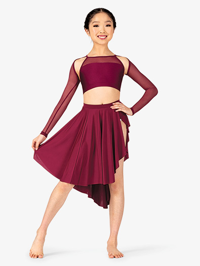 Girls Lyrical Flow Collection Side Slit Skirt - Style No N9115C