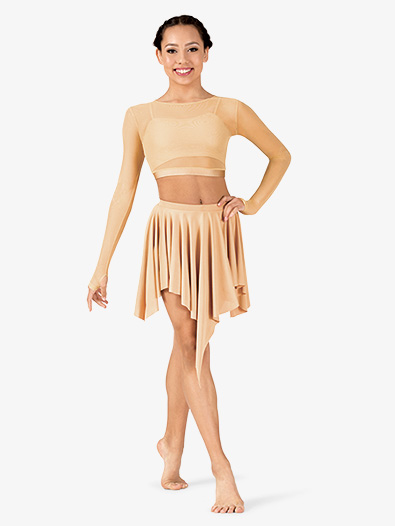 Womens Lyrical Flow Collection Short Asymmetrical Skirt - Style No N9116