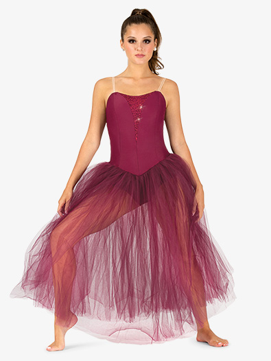 Womens Performance Camisole Romantic Tutu Dress - Style No N9128