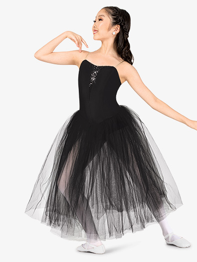 Girls Performance Camisole Romantic Tutu Dress - Style No N9128C
