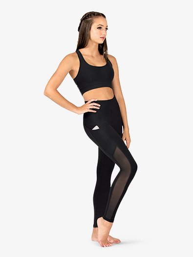Womens Mesh Side Panel Workout Leggings - Style No NA130