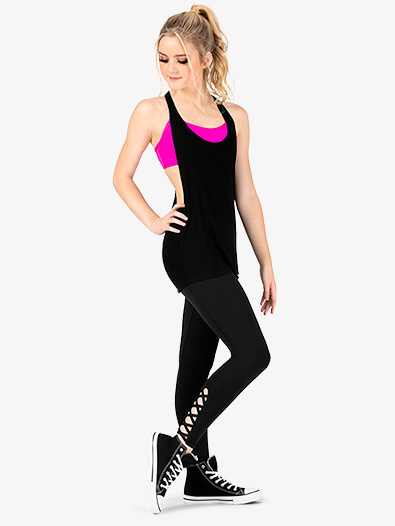 Womens Crisscross Compression Workout Leggings - Style No NA135x