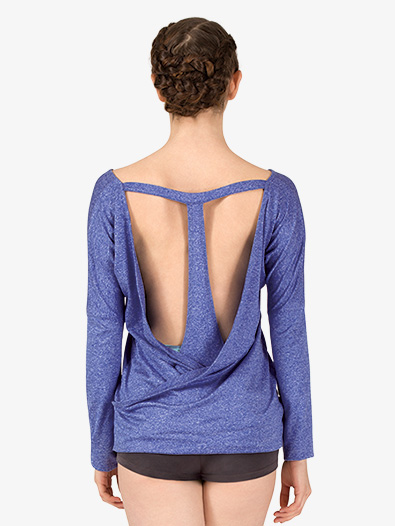 Womens Active T-Back Long Sleeve Top - Style No NA158x