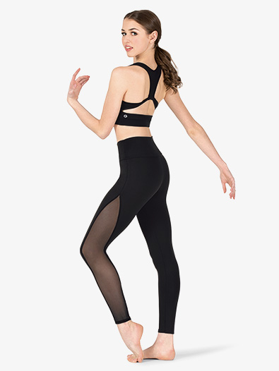 Womens Compression Side Mesh Workout Leggings - Style No NA162