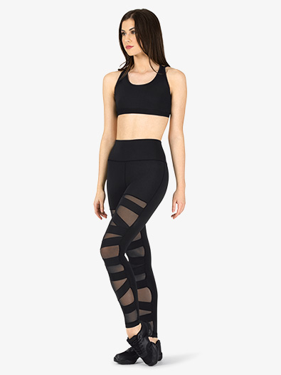 Womens Compression Crisscross Workout Leggings - Style No NA163