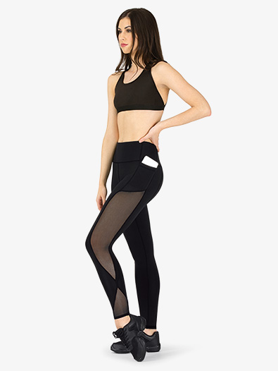 Womens Compression Mesh Workout Leggings - Style No NA164
