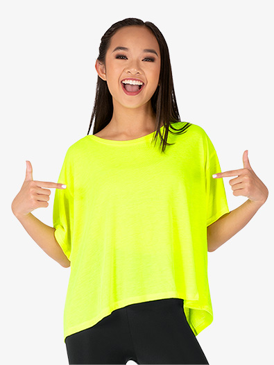 Womens Oversized Short Sleeve Dance Tee - Style No NA8881