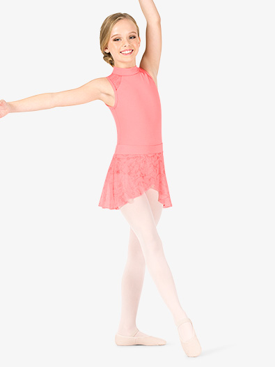 Girls Floral Mesh Pull-On Ballet Skirt - Style No NC8928C