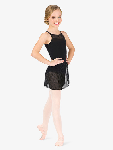 Girls Flower Mesh Wrap Ballet Skirt - Style No NC8931C