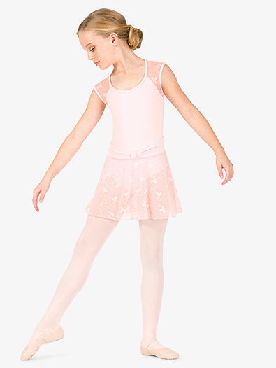 Girls Ribbon Mesh Pull-On Ballet Skirt - Style No NC8935C