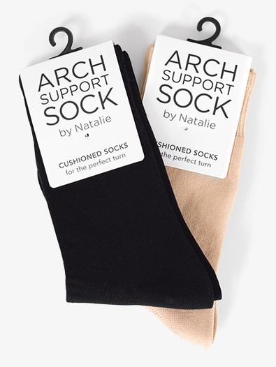 Womens Arch Support Dance Socks - Style No NSOCK1