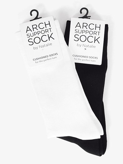 Mens Arch Support Dance Socks - Style No NSOCK1M