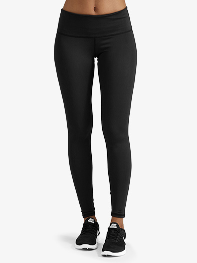 Womens Ankle Length Workout Leggings - Style No NY0116ONYXx