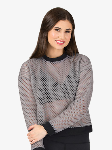 Womens Mesh Long Sleeve Workout Top - Style No NY9920x