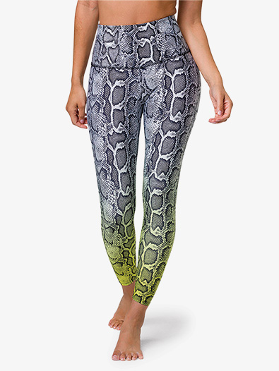 Womens Graphic High-Rise Midi Workout Leggings - Style No OZ2029G