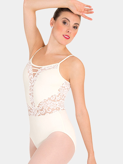 Womens Tiler Peck Lace Insert Camisole Leotard - Style No P1101