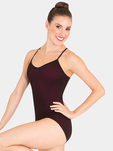 Womens Tiler Peck Mesh Overlay Camisole Leotard - Style No P1151