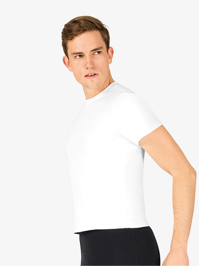 Mens Microfiber Short Sleeve Dance Top - Style No P322Mx