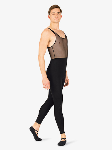Mens Dance Mesh Tank Unitard - Style No P674Mx