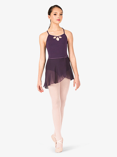 Girls Short Sheer Ballet Wrap Skirt - Style No P69C