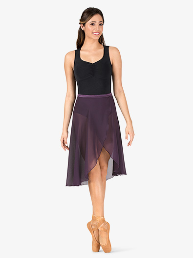 Womens Long Sheer Ballet Wrap Skirt - Style No P69L