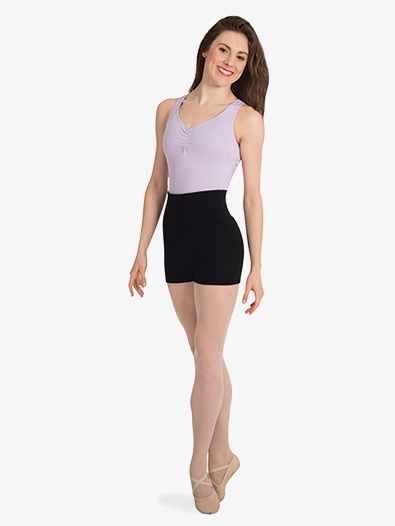 Womens Roll-Down Waist Dance Shorts - Style No P971