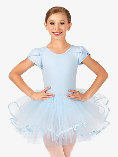 Child Short Sleeve Tutu Costume Dress - Style No PB2022C